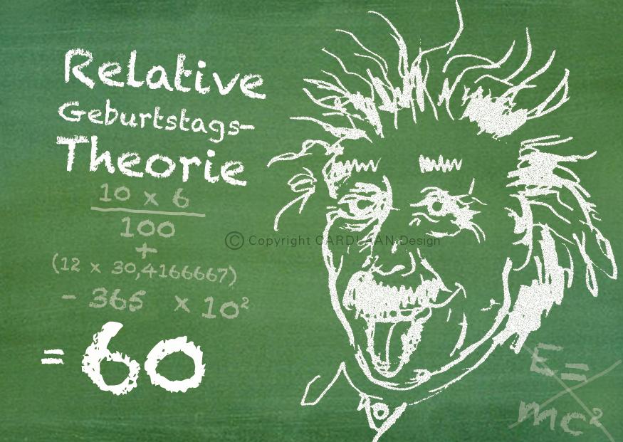 Einstein Schultafel... 60