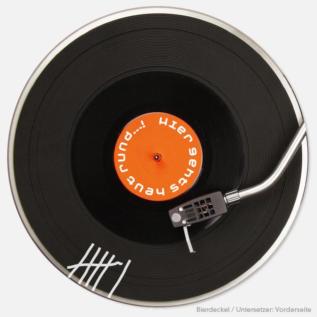 Schallplatte.... Bierdeckel