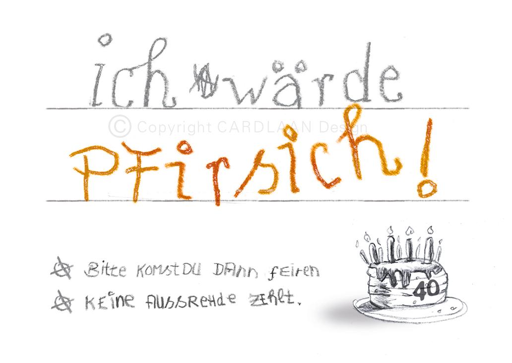 Wärde Pfirsich... 40
