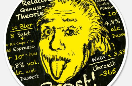 Einstein... Bierdeckel