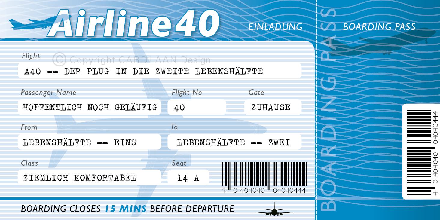 Flugticket 40... (blau)