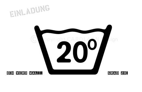 20. geburtstag | cardlaan, Einladungsentwurf
