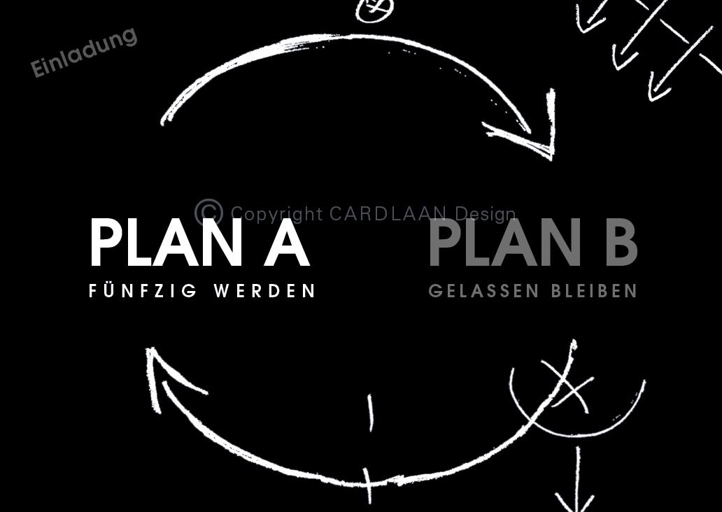 Plan A B… 50 (schwarz mit skizze) | Cardlaan