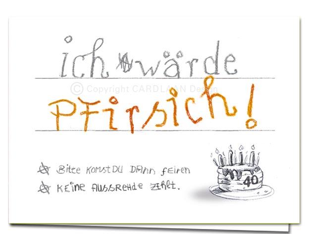 Wärde Pfirsich… 40 (Klappkarte) | Cardlaan